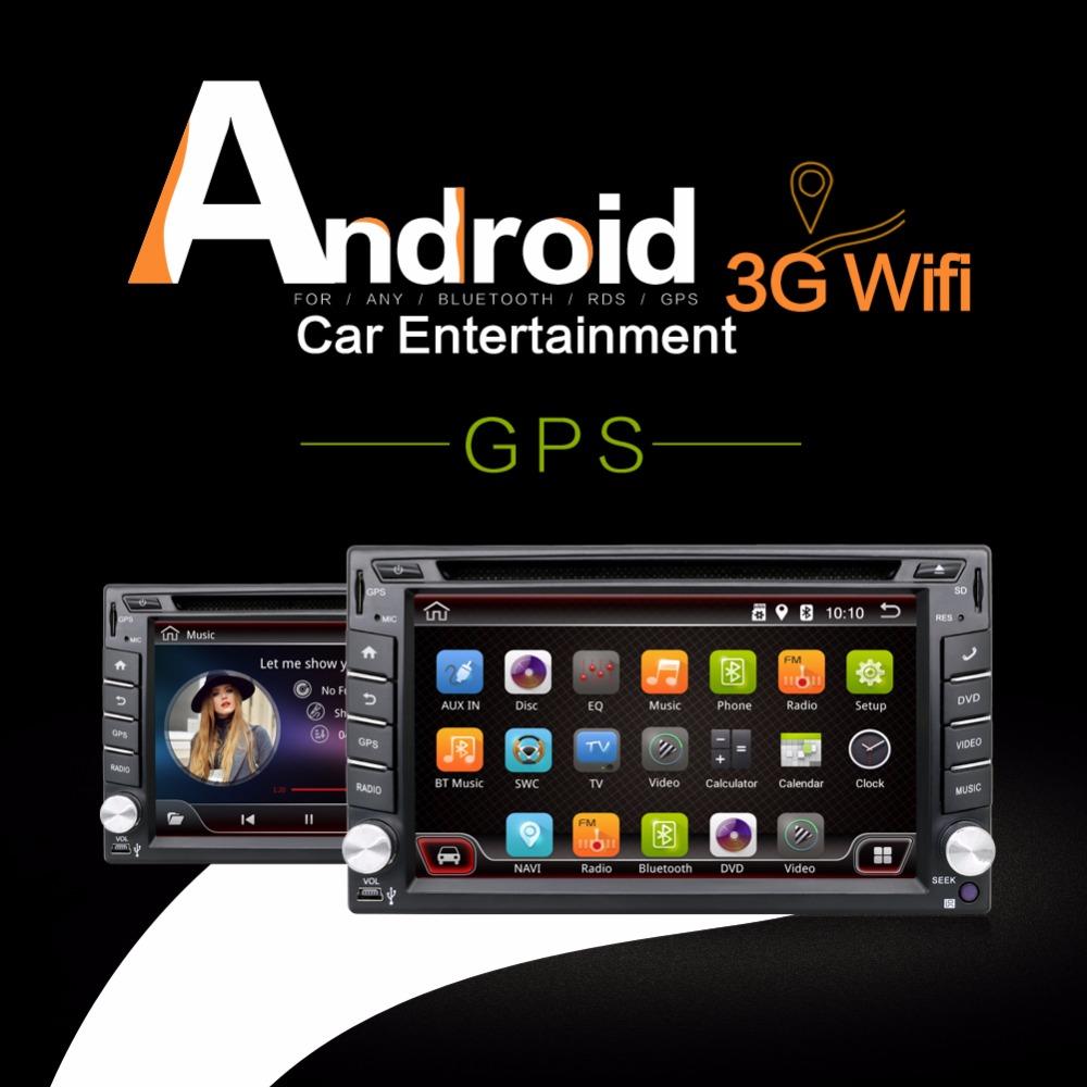 2016 New! 6.2 INCH Android 4.4 Car DVD player GPS Wifi 3G Bluetooth 2 DIN universal X-TRAIL Qashqai x trail juke(China (Mainland))
