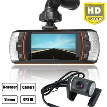 """NEW HD 1080P 2.7"""" Car Dual Lens Dashboard Separate Rear Camera Vehicle DVR with Night-mode(China (Mainland))"""