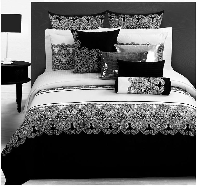 3d Bedding Sets Classical Black White Retro Paisley Bedding Set Bed Linen Duv
