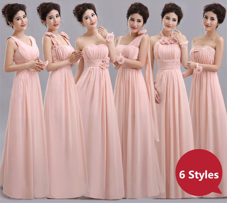 Aliexpress.com : Buy Blush Pink Bridesmaid Dress Floor ...