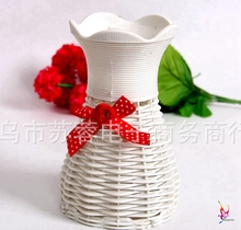 white fashion Flower  Vase Artificial Square Flower basket gift Decor Home Wedding Party Decoration vase Wholesale free shipping(China (Mainland))