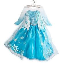 Girl Clothes Elza Costume Anna Dresses Princess Robe Girls Costumes For Kids Elsa Dress Party Wedding disfraz princesa Vestidos