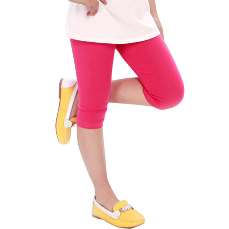 Baby Kid Girl Candy Color Cotton Stretch Skinny Leggings Casual Capris Pant 2-7Y<br><br>Aliexpress