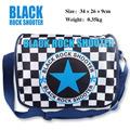 Polyester shoulder bag colorful printed with Anime BLACK ROCK SHOOTER star mark Messenger Bag