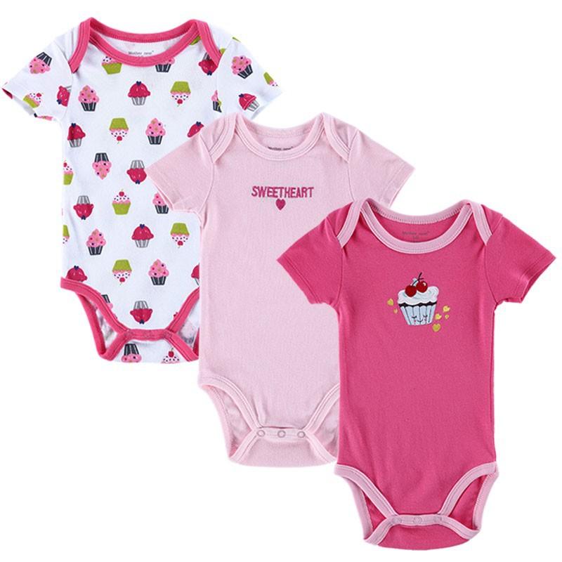 Newly 3 PCSlot Infantil Body Bebes Baby Boy Girl Rompers Ropa Bebe 2015 Summer O-neck Short Sleeved Infant Clothing for Newborn (4)
