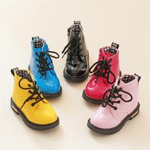 2015 nueva moda Chaussure Enfant niños martin botas niñas zapatos de invierno los niños botas de lluvia de cuero de la PU zapatillas de deporte 21-36(China (Mainland))