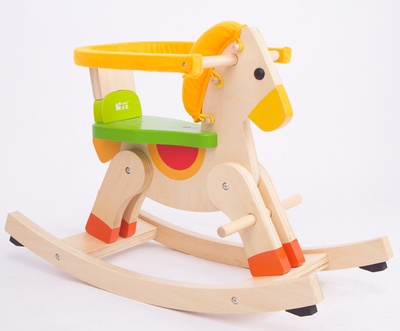Wooden rocking horse multifunction dual removable fence suit for 1- 4 year baby toy gift(China (Mainland))