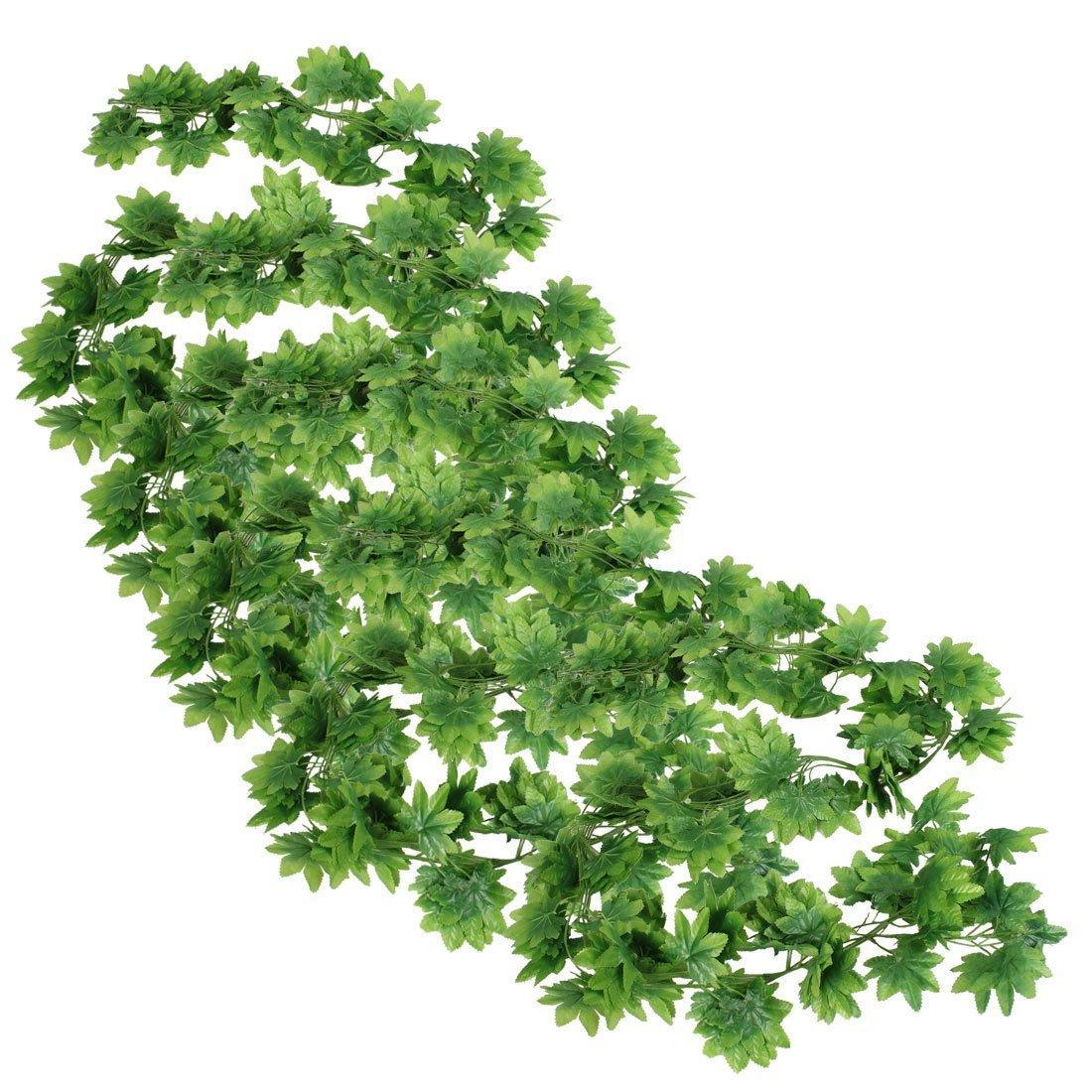 Гаджет  FJS! 5 Pcs Green Plastic Simulated Plant Leaf Wall Hanging Ornament 2M None Строительство и Недвижимость