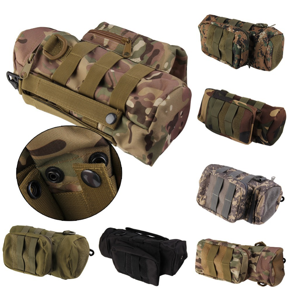 New Tactical Travel Molle Military Zipper Water Bottle Hydration Pouch Bag Outdoor Hiking H1E1(China (Mainland))