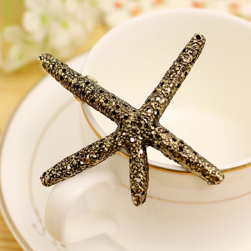 European Style Fashion Jewelry Starfish Hairpin Vintage Hair Accessories Barrettes Wholesale AA016(China (Mainland))