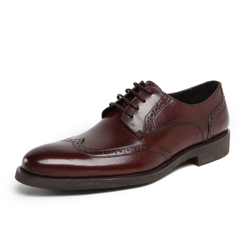 Men Shoes Leather Genuine Luxury Italian Dress Wedding Flats Wingtip Carved Lace Up Oxford Shoes Size38-44 GRIMENTIN Fashion Z47(China (Mainland))