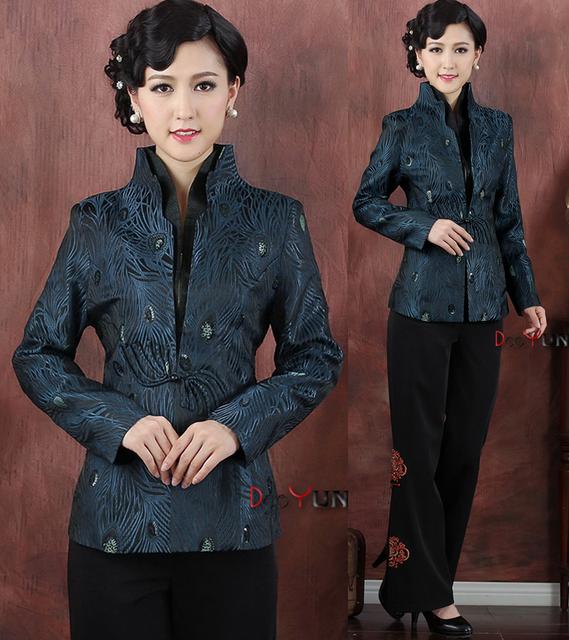 Бесплатная доставка продажа новое поступление китайской традиции стиль женская куртка ...