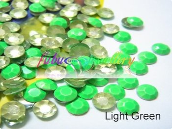Free Shipping! 2880pcs/Lot, ss20 (5MM in Diameter) Good Quality Light Green Hot Fix Rhinestuds
