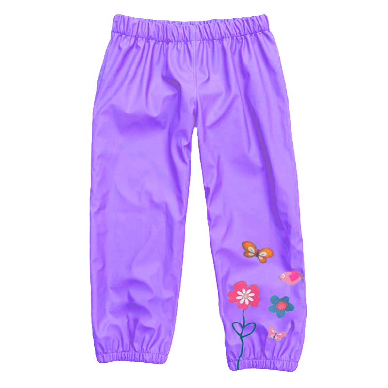 Retail high quality children's pants. girl's casual pants. 35% Cotton+35% Polyester+30% Nylon rain pants. 5 colors can choose.(China (Mainland))