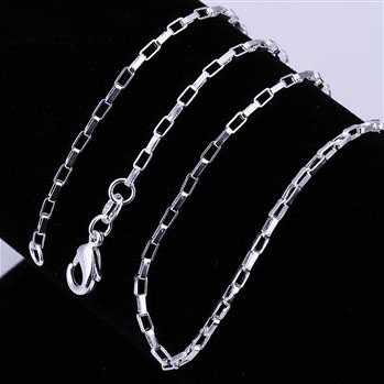 Free Shipping 925 Sterling Silver Chain Fine Fashion Silver Jewelry Chain 2MM Cell Chains 5PCS/lot Top Quality SMTC005(China (Mainland))