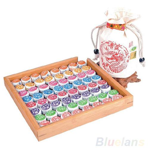 81 PCS Different Chinese Puerh Tea Puer Ripe Tea Pu erh Cake Healthy 0284 3WKN