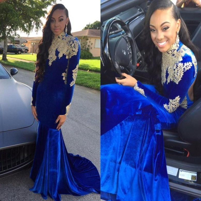 Mermaid Prom Dress with Long Sleeve Thats Blue Promotion-Shop for ...