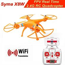Hot New Original Syma X8W Drone WiFi FPV RC Quadcopter Helicopter 2.4GHz 4CH 6Axis HD +2MP Camera Orange