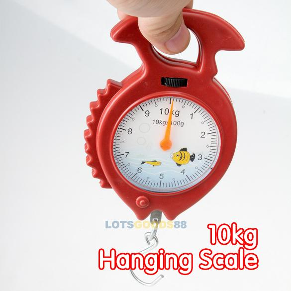 Гаджет  LS4G 10kg Weighing Portable Numeral Pointer Spring Balance Hanging Scale None Инструменты