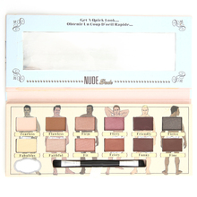 12 Color Eye Shadow Natural Bare/Nude Make-Up Comestic Tools With a Brush New Sale(China (Mainland))