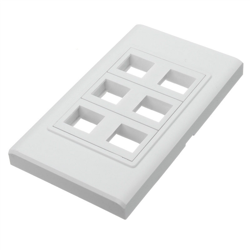 2016 New Arrival Household Buliding material Standard Grounding Six ports wall plate Wall Socket with 120 X 70mm(China (Mainland))