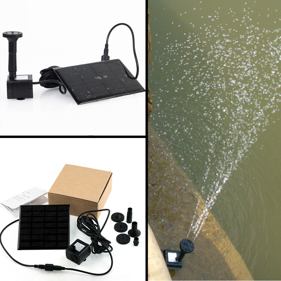 New Solar Powered Water Pump Kit - Fountain, Pool, Garden/ Pond(China (Mainland))