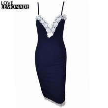 Love&Lemonade Tight Blue Lace  Party Dress TB 8773(China (Mainland))