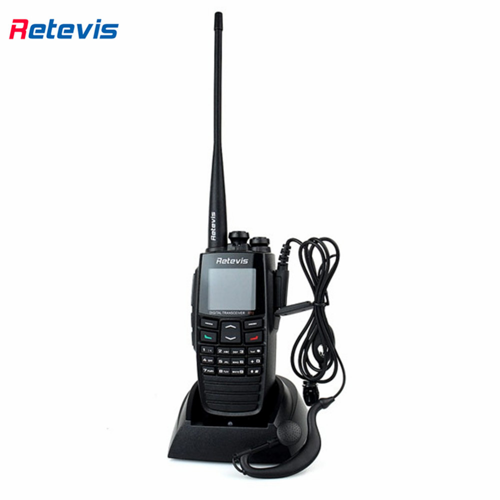 DPMR Retevis RT2 Digital Walkie Talkie VHF+UHF 136-174+400-470MHz 5W 256CH Ham Radio Hf Transceiver VOX Scan 2 Antenna A9107A(China (Mainland))