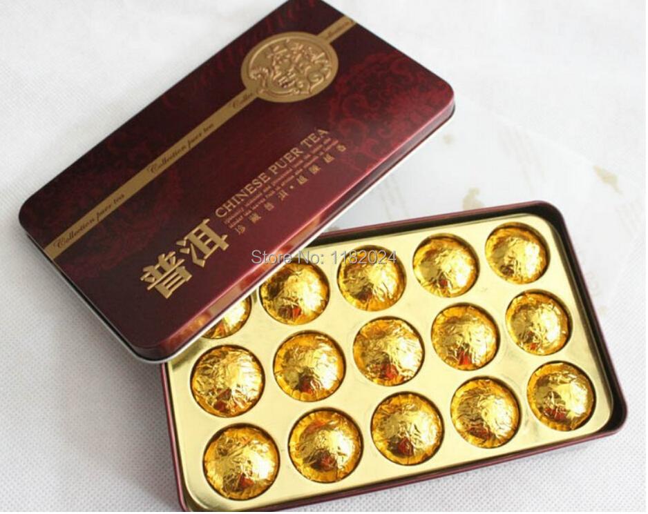 Black Tea Flavor Pu er Puerh Tea Chinese Mini Yunnan Compressed Puer Tea Gift Tin box