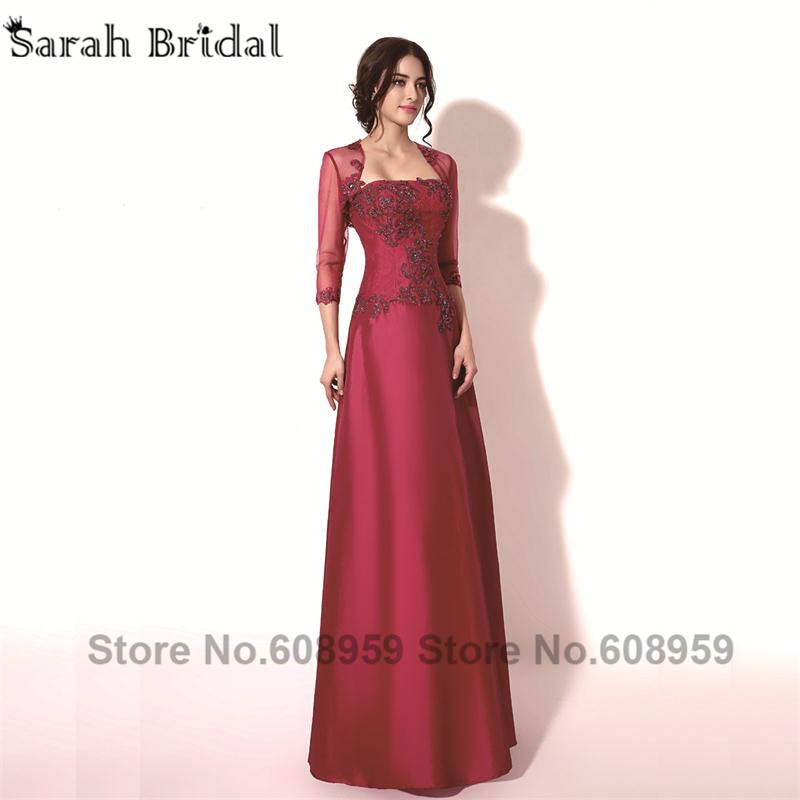 Stock Long Elegant Evening Dresses 2015 Special Occasion Mother Bride Jacket Real Picture TZ011 - Sarahbridal store