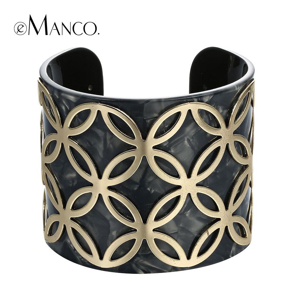 //Black wide bangle acrylic bangle bracelets// metal geometric bangle cuff brazaletes pulseras mujer 2015 new arrival eManco(China (Mainland))