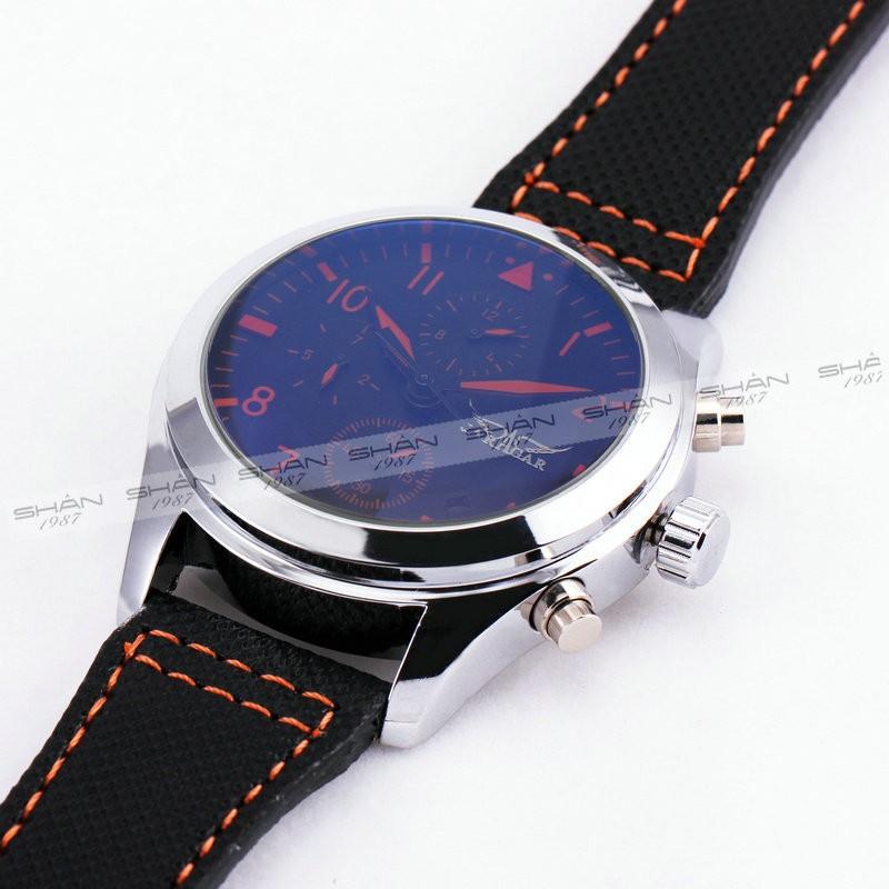 Победитель мужская автоматические механические наручные часы черный холст ремешок - набрать отображение даты календарь + коробка