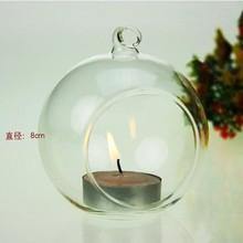 Dia 8cm Crystal Glass Candlestick Weeding,Hanging Tealight Holder for wedding candlestick,wedding decor,home decor(China (Mainland))