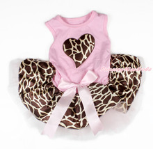 Pink Sleeveless Bow Giraffe