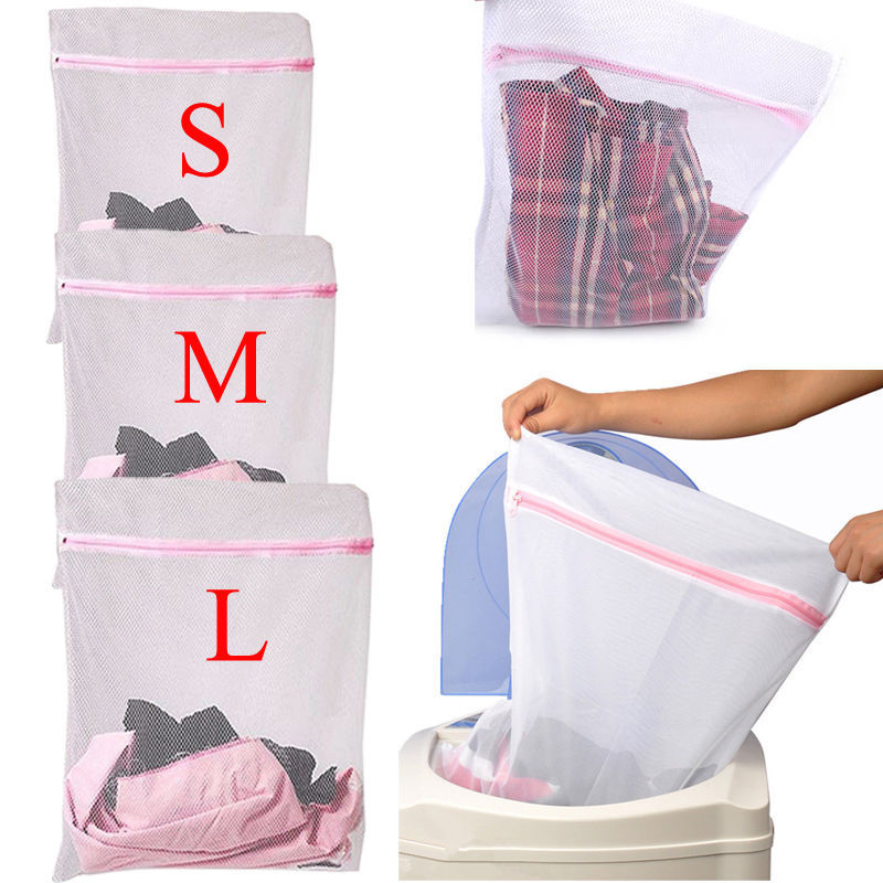S/M/L Clothes Washing Machine Laundry Bra Aid Lingerie Mesh Net Wash Bag Pouch Basket 1PCS(China (Mainland))