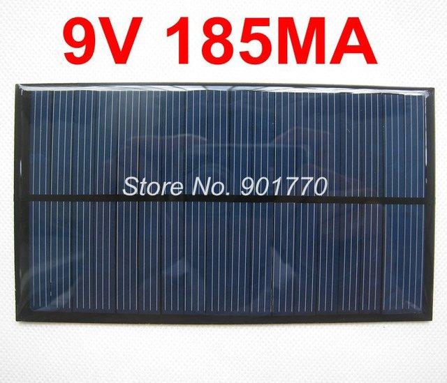 9V 185mA 1.665W solar panel power 6V battery polycrystalline solar cells solar charge free shipping