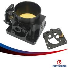 PQY RACING- BLACK 75MM BILLET CNC THROTTLE BODY FOR 86-93 FORD MUSTANG GT COBRA LX 5.0 PQY6958BK - Racing Performance Parts Co.,Ltd store