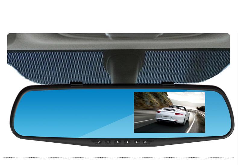 Фотография Universal  CAR DVR Blue mirror mirror driving recorder dual lens HD night vision car backing image Car styling