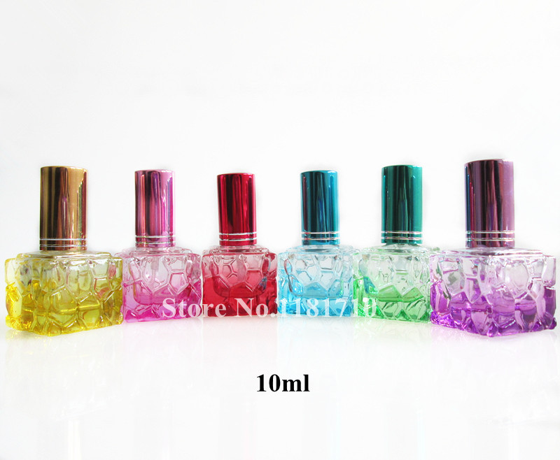 100pcs/lot 10ml Glass Bottle Perfume Vials Refillable Glass Spray Bottle Fragrance Cosmetic Packaging Wholesale(China (Mainland))