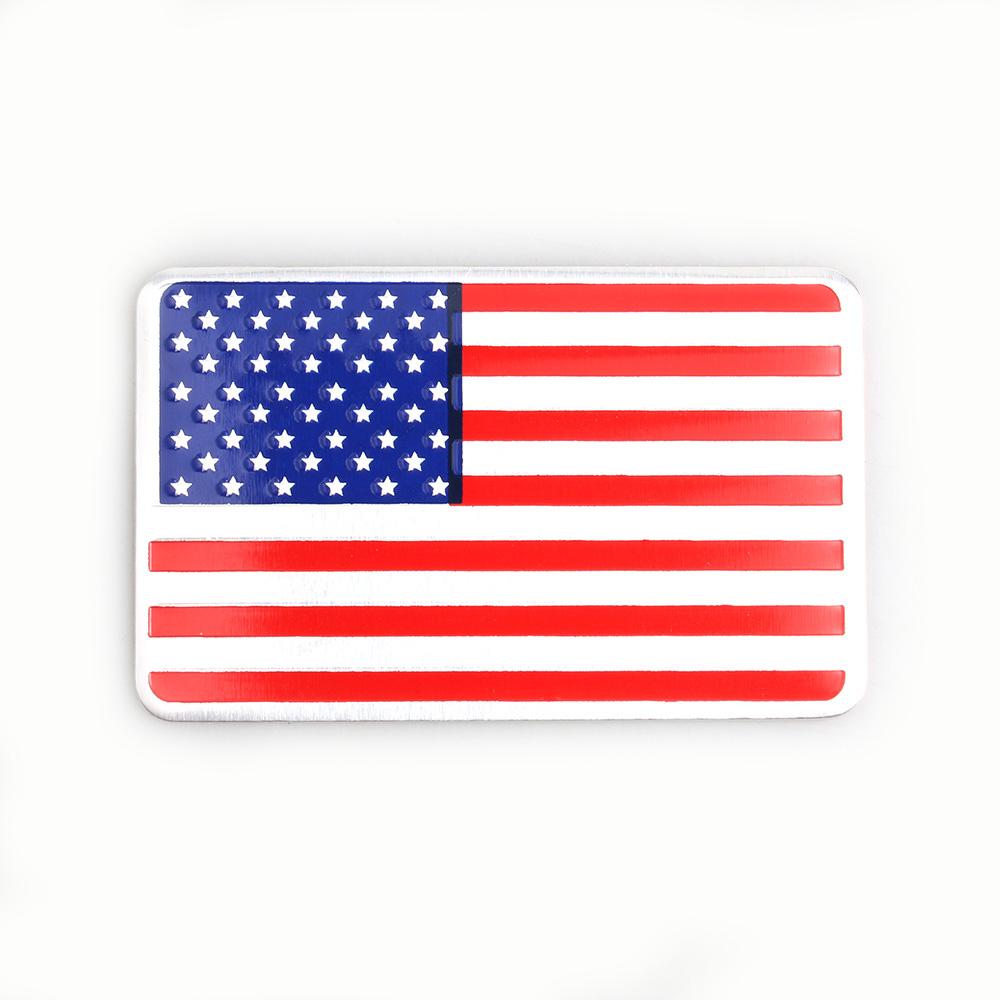 Metal American US Flag Car sticker logo Emblem Badge Car Styling stickers For Jeep Bmw Fiat VW Ford Audi Honda Toyota Lad(China (Mainland))