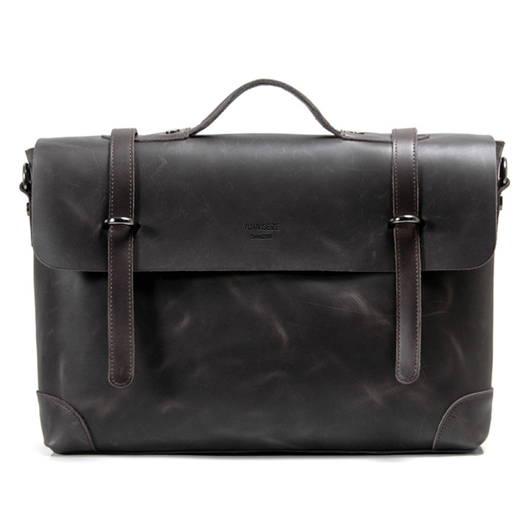 100% Genuine leather bags vintage famous brand men's crazy horse leather briefcase laptop bag satchel handbag men messenger bags(China (Mainland))