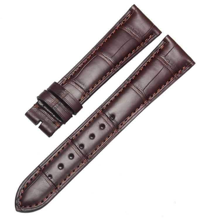 20 мм (пряжка 16 мм) Черный Коричневый Высокое Качество Аллигатор Кожаный Ремешок Для Часов Водонепроницаемый Ремни Браслеты для бренда Класса Люкс мужские Часы