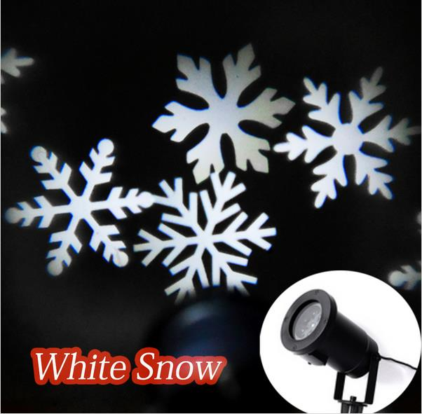 five star Outdoor/ Indoor LED Snow Projection Lamp Snowflakes Landscape Projector Christmas Party Light Wall Decoration(China (Mainland))