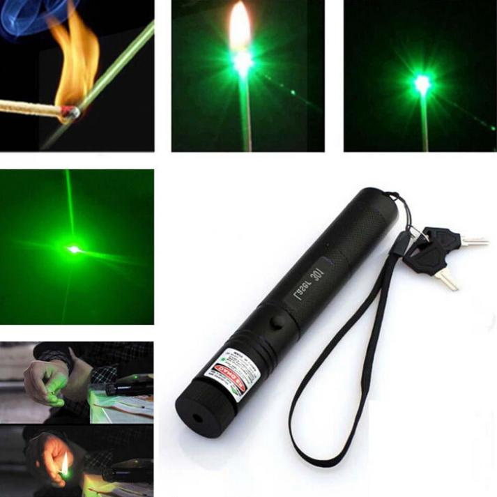 brand new Green Laser Pointer Pen Focus Adjustable 532nm Zoomable Burning Lazer & Key(China (Mainland))
