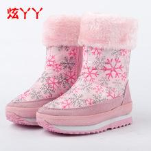 Qualità patchwork bambini stivali 2015 bambino di cuoio genuino stivali da neve delle ragazze dei capretti indietro pizzo stivali caldi(China (Mainland))