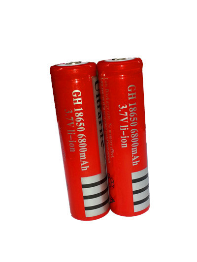 6Pcs lot 3 7V 18650 battery 6800mAh Li ion Rechargeable Battery for Flashlight 3 7v 18650
