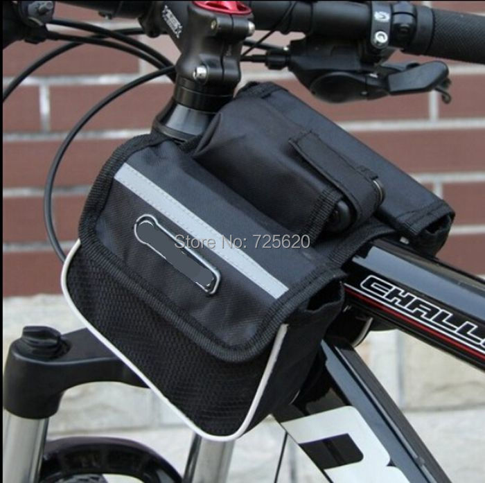 Giant Bicycle Road Mountain Bike Cycling Sport Frame Front Tube Double Sides Saddle Bag Package Mobile Phone Key Case Pack Pouch - Mama Love Baby store
