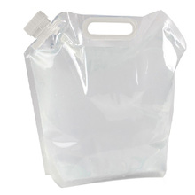 Portable Folding Clear Water Bag Camping Survival Kit Supply 5L #gib(China (Mainland))
