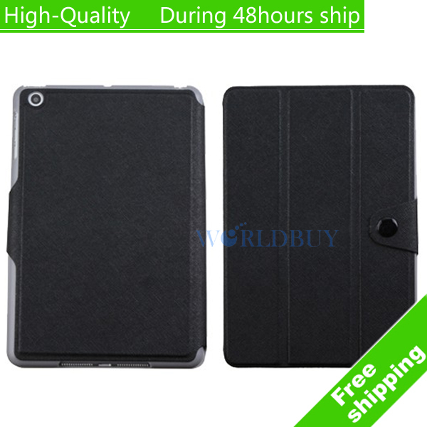 High Quality Tri-Fold Wake Leather Magnetic Case Smart Cover For Apple iPad Mini Free Shipping UPS DHL EMS HKPAM CPAM<br><br>Aliexpress