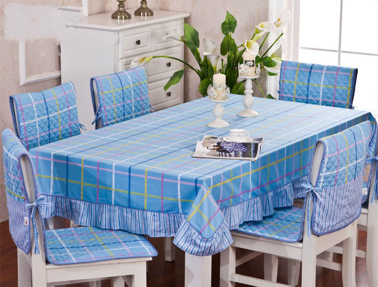 hot sale dining table cloth and chair cover set 100 cotton fabric
